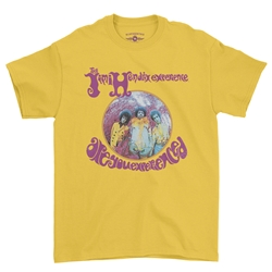 Jimi Hendrix Are You Experienced Album T-Shirt - Classic Heavy Cotton | Authentic Hendrix