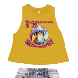 Jimi Hendrix Are You Experienced Album Racerback Crop Top - Women's | Authentic Hendrix