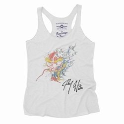 Johnny Winter Screamin Demon Tattoo Racerback Tank - Women's