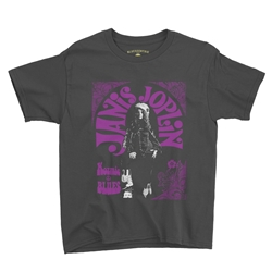 Janis Joplin Kozmic Blues Youth T-Shirt - Lightweight Vintage Children