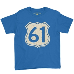 Highway 61 Youth T-Shirt - Lightweight Vintage Children & Toddler