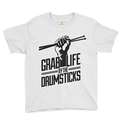 Grab Life by the Drumsticks Youth T-Shirt - Lightweight Vintage Children & Toddlers