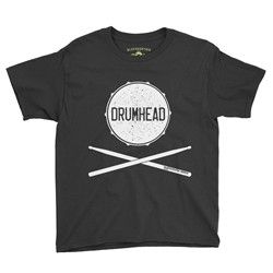 Drumhead Youth T-Shirt - Lightweight Vintage Children & Toddlers