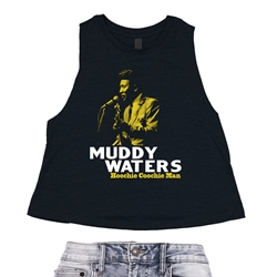 Muddy Waters Hoochie Coochie Man Racerback Crop Top - Women's