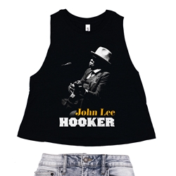 John Lee Hooker Racerback Crop Top - Women's