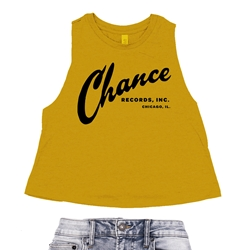 Chance Records Racerback Crop Top - Women's