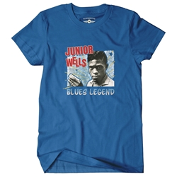 Junior Wells Blues Legend T-Shirt - Classic Heavy Cotton