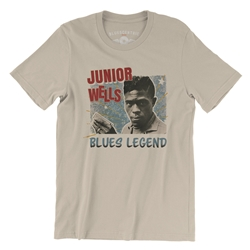 Junior Wells Blues Legend T-Shirt - Lightweight Vintage Style