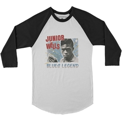 Junior Wells Blues Legend Baseball T-Shirt