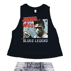 Junior Wells Blues Legend Racerback Crop Top - Women's
