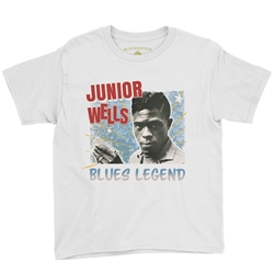 Junior Wells Blues Legend Youth T-Shirt - Lightweight Vintage Children & Toddlers
