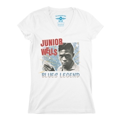 Junior Wells Blues Legend V-Neck T Shirt - Women's