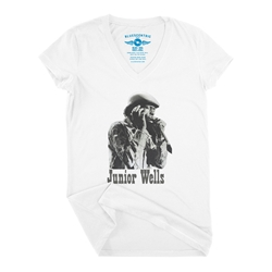 Old School Junior Wells V-Neck T Shirt - Women's