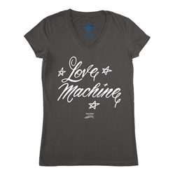 Cheech and Chong's Up In Smoke Love Machine V-Neck T Shirt - Women's