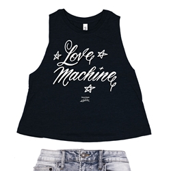 Cheech and Chong's Up In Smoke Love Machine Racerback Crop Top - Women's