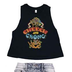 Cheech and Chong Album Racerback Crop Top - Women's