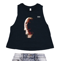 First Album Johnny Winter Racerback Crop Top - Women's