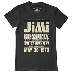 Jimi Hendrix Live at Berkeley T-Shirt - Classic Heavy Cotton