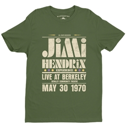 Jimi Hendrix Live at Berkeley T-Shirt - Lightweight Vintage Style