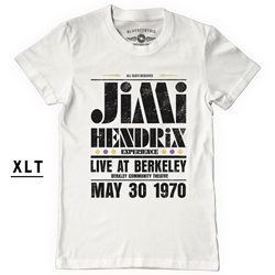 XL Tall Jimi Hendrix Live at Berkeley T-Shirt - Men's Big & Tall