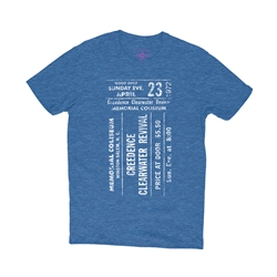 CCR Concert Ticket T-Shirt - Lightweight Vintage Style