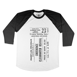 CCR Concert Ticket Baseball T-Shirt
