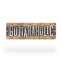 Guitaraholic guitar Street Sign