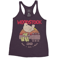 Bird & Guitar Woodstock Racerback Tank - Women's