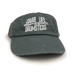 Grab Life By The Drumsticks Hat - Unstructured Grey