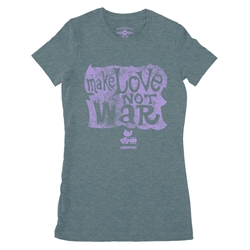 Make Love Not War Woodstock Ladies T Shirt