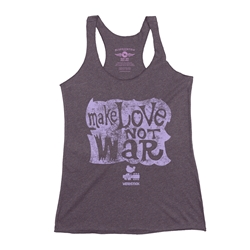 Make Love Not War Woodstock Racerback Tank - Women's