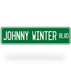 Johnny Winter Blvd Street Sign