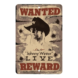 Johnny Winter Wanted Live Parking Sign