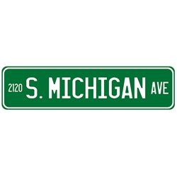 Michigan Ave Street Sign