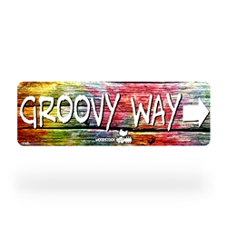 Woodstock Groovy Way Street Sign