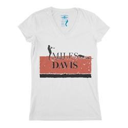 Miles Davis Spain V-Neck T Shirt - Women's