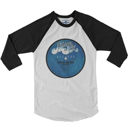 Muddy Waters Blue Sky Vinyl Raglan Baseball Tee
