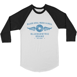 Bluescentric Blues Soul Rock n Roll Baseball T-Shirt