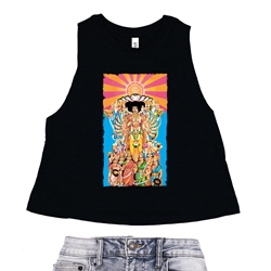 Jimi Hendrix Axis Bold as Love Racerback Crop Top - Women's