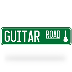 Guitar Road Street Sign