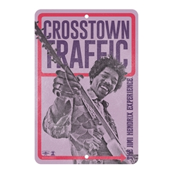 Jimi Hendrix Crosstown Traffic Sign