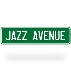 Jazz Music Street Sign