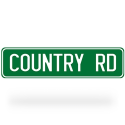 Country Road Street Sign