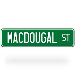 Macdougal Street Sign