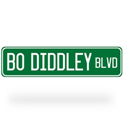 Bo Diddley Blvd Street Sign