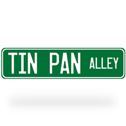 Tin Pan Alley Street Sign