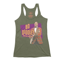 Bo Diddley Plaid Racerback Tank - Women's