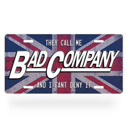 Bad Company License Plate