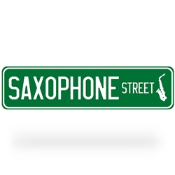 Saxophone Street Sign