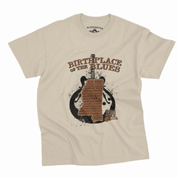 Birthplace of the Blues Trail T-Shirt - Classic Heavy Cotton